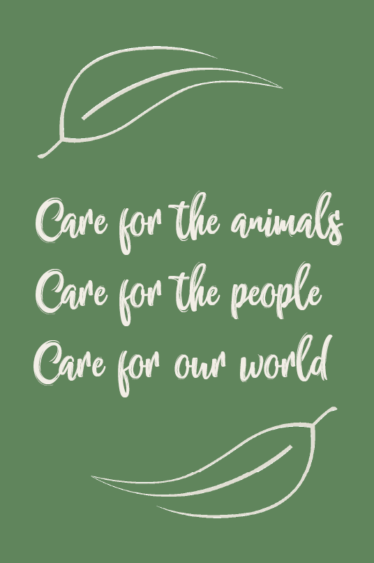 Foothills Care for the animals policy